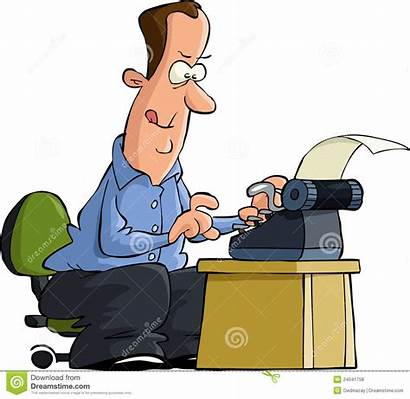 Writer Clipart Author Royalty Typing Vector Typewriter