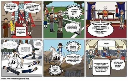 French Graphic Revolution Novel Storyboard Slide