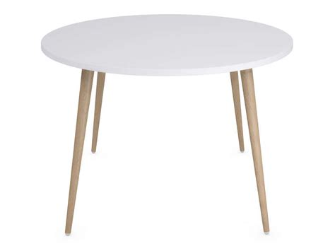 table ronde cuisine conforama table ronde 120 cm soren coloris blanc chêne clair vente