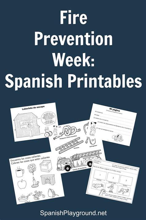 fire prevention week spanish printables spanish playground