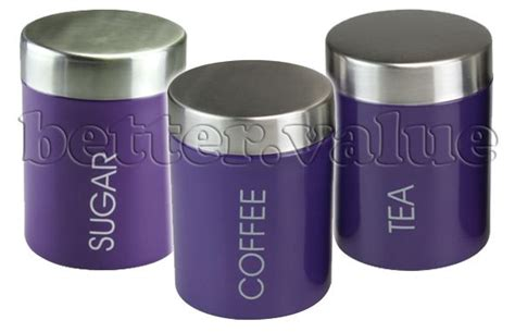 purple canisters for the kitchen kitchen canisters tins storage airtight coffee sugar tea