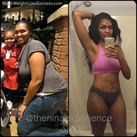 nina lost  pounds black weight loss success
