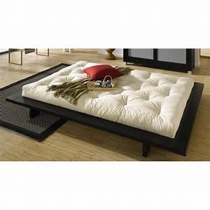 lits chambre literie cadre de lit japonais japan noir With tapis couloir avec canapé futon japonais