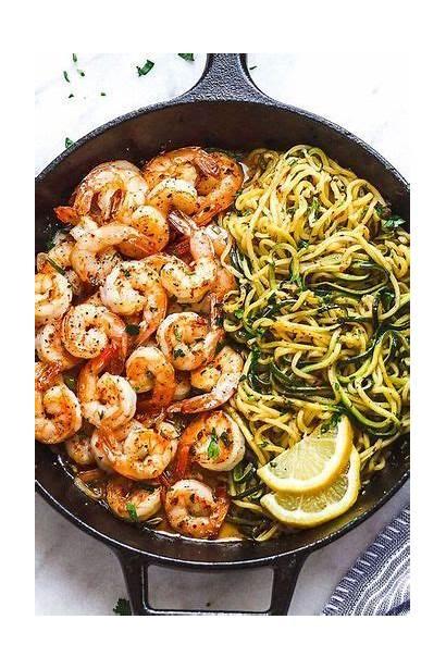 Shrimp Noodles Zucchini Garlic Lemon Butter Eatwell101