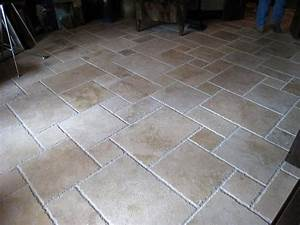 Travertine french pattern tiles for Outdoor patio tile patterns