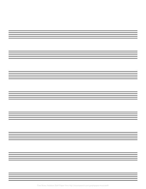 This blank music sheet template has 12 plain music staffs per page. Printable Musical Staff That are Challenger | Ruby Website