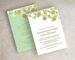 mint green and gold polka dot wedding invitations wedding With wedding invitations polka dot design