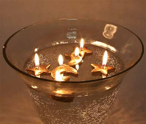 gold moon  stars floating candles candles