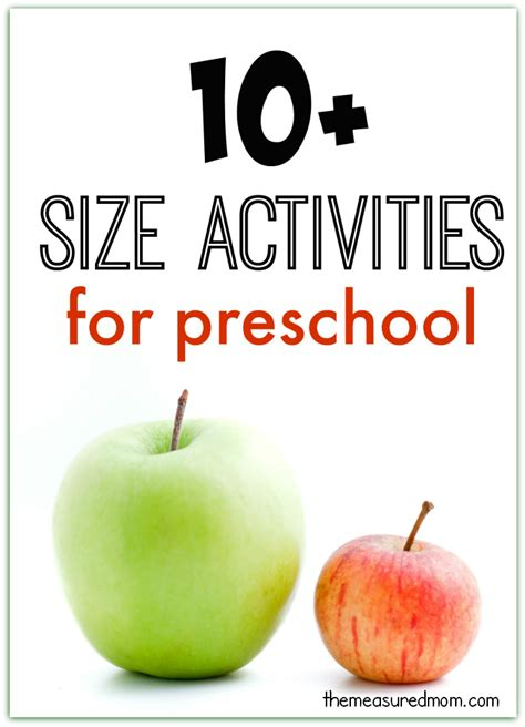 big  small activities  preschool  measured mom