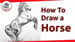 How to Draw a Realistic Horse Step by Step - YouTube