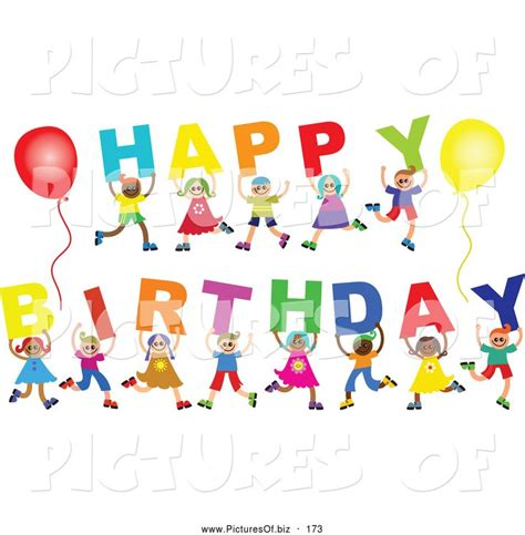 Happy Birthday Clip Happy Birthday Clip Free Vector Clipart Of A