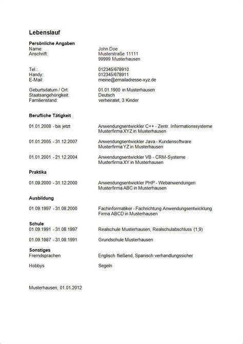 Lebenslauf Tabellarischer Lebenslauf Für Die Bewerbung. Lebenslauf Praktikum Englisch. Lebenslauf In Aufsatzform Form. Xing Lebenslauf Unterschrift. Lebenslauf Muster Pdf. Cv Template Word Software Engineer. Lebenslauf Ausbildung Word. Lebenslauf Muster Kostenlos Ausbildung. Lebenslauf Muster Zum Download