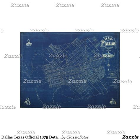 city  dallas texas vintage engineers map wood poster