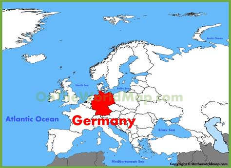 Germany on world map by footagestock videohive. Germany location on the Europe map