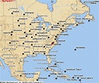 Eastern Us Map With Cities | map of interstate