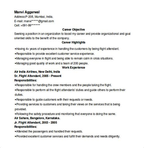 sle hostess resume 6 in word