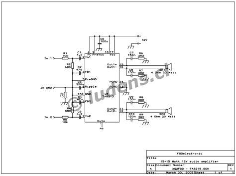 Watt Quad Audio Amplifier