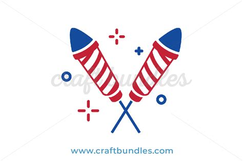 Use the templates for crafting, cutting. Firecrackers SVG Cut File - CraftBundles