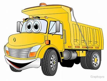 Dump Truck Cartoon Clipart Yellow Clip Military