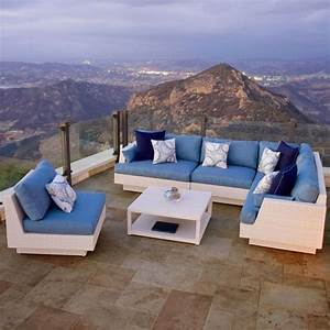 17 best images about patio furniture on pinterest canada for Portofino comforttm chalk blue 6 piece sectional sofa