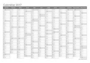 Printable 2017 Yearly Calendar Template