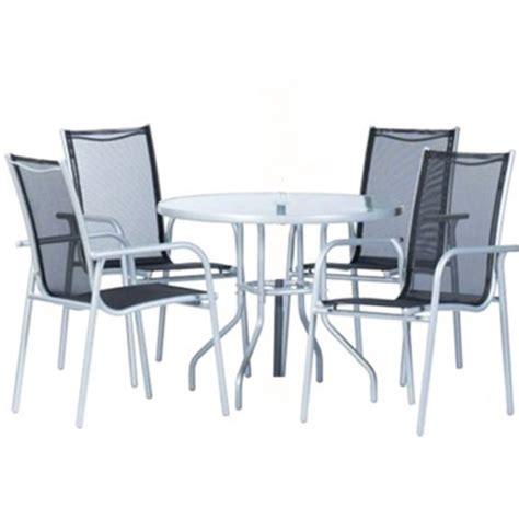 set da terrazzo set da giardino andes terrazzo con 4 sedie tavolo rotondo