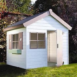 Cabane De Jardin En Bois Enfant : jardipolys janaka maisonette cabane enfant bois bleu blanc ~ Dailycaller-alerts.com Idées de Décoration