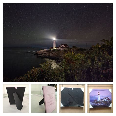 1 led lights stand on table plaque hang wall canvas