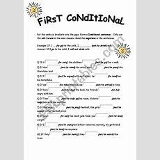 First Conditional Exercises  Esl Worksheet By Mirmesko