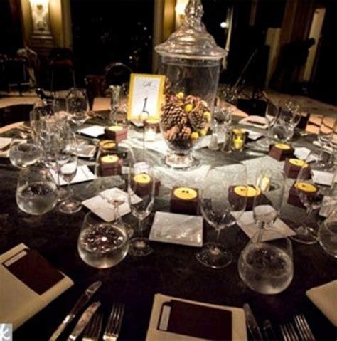 decoration table pour  mariage hivernal