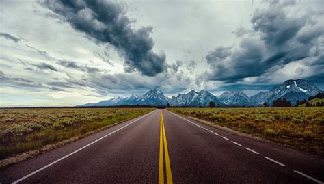road, Field, Horizon, Mountains, Clouds, Sky Wallpapers HD ...
