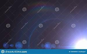 Lens, Flare, Effect, On, Black, Background, Digital