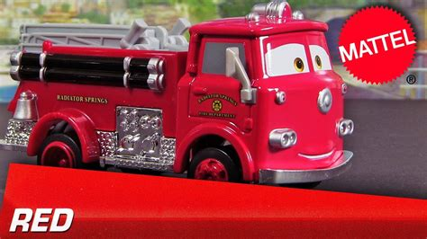 2013 Cars Red The Fire-truck Deluxe Mattel Die-cast Disney
