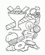 Coloring Candy Pages Printable sketch template