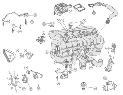 2001 Bmw 325i Engine Component Diagram by Mercedes Engine 1996 97 E320 Mercedes Parts And