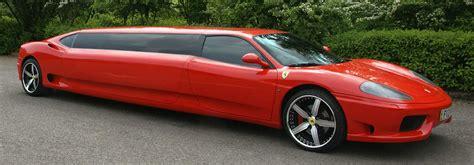 Ferrari limo sales, ferrari limousines. 7-Passenger Red Ferrari Limo from Limousines in London
