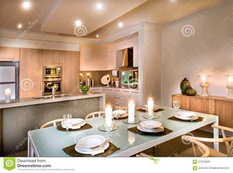 cucina sala pranzo sala da pranzo moderna e la cucina immagine stock
