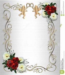 Cadre Photo Mariage : mariage rouge de satin de roses d 39 invitation de cadre illustration stock illustration du bord ~ Teatrodelosmanantiales.com Idées de Décoration