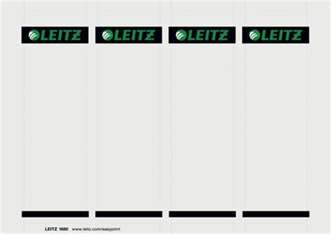 leitz pc beschriftbare rueckenschilder fuer leitz qualitaets