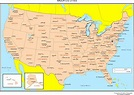 Printable Map Of Us With Major Cities   Printable US Maps
