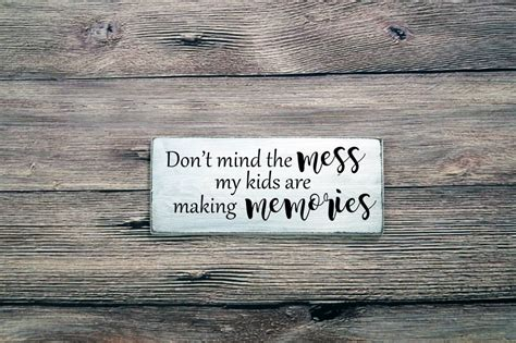 Don Mind The Mess Rustic Wood Sign White