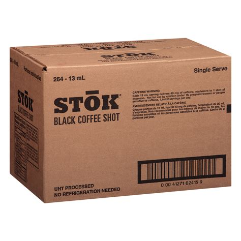 Each one has the caffeine content of a single i have been looking for the coffee shots called stokes for months now are. STOK Single Serve Black Coffee Shots, 264 Count - Walmart Inventory Checker - BrickSeek