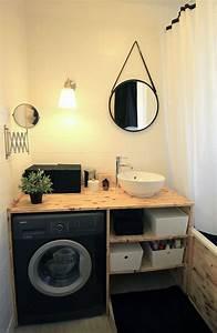idee decoration salle de bain meuble de salle de bain en With meuble de salle de bain gain de place