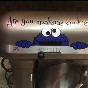 Kitchen Aid Mixer Decal by Cookie Monster Sesame Street Kitchenaid Mixer Vinyl Decal