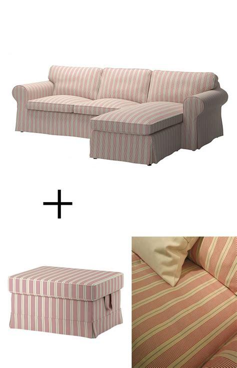 Ikea Ektorp Loveseat Chaise by Ikea Ektorp Loveseat W Chaise And Footstool Slipcovers 3