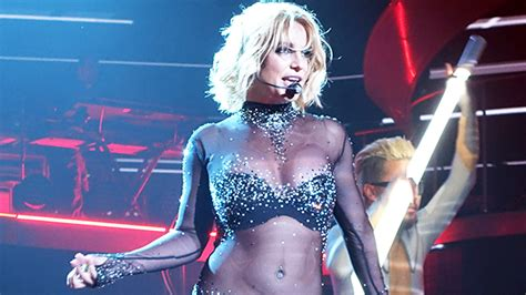 Britney Spears' Sheer Catsuit: Dances In Fashion Video ...