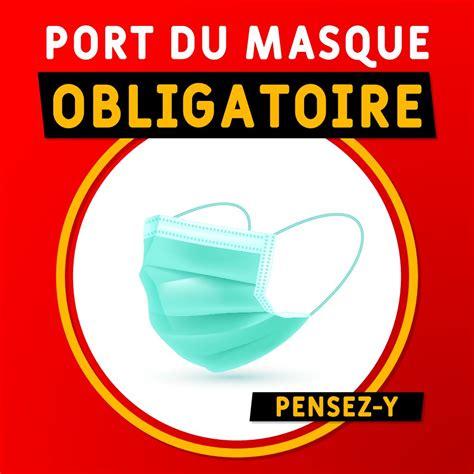 Société bruxelles port du masque. Affiche en Vinyle - Port du masque - Sumacom