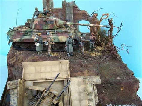 "Diorama ""Hungary 1945 - Russians break the line"""