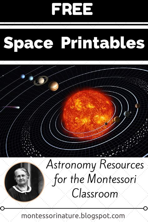 space printables astronomy resources