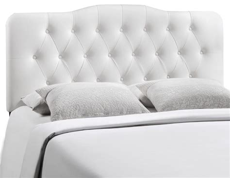 white king headboard annabel white king vinyl headboard from renegade mod 5159